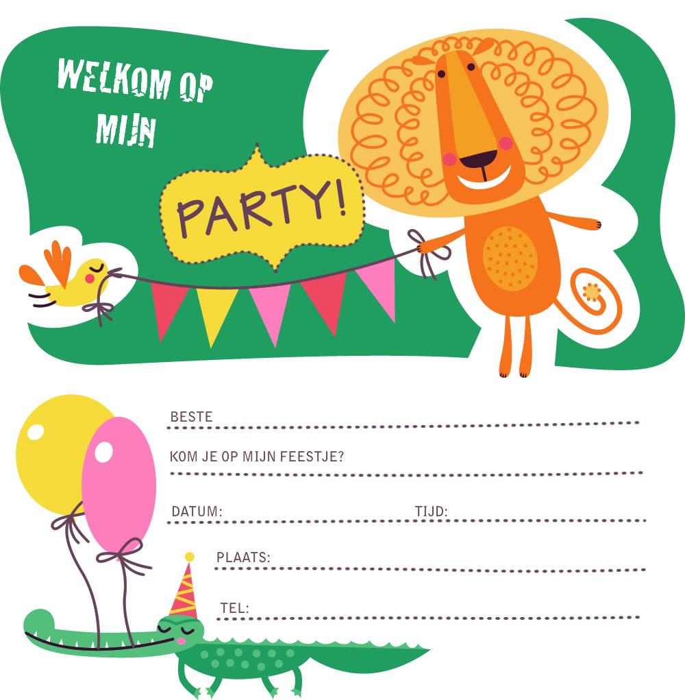 New Uitnodigingen kinderfeestje jongens om te printen | Top-3 kado- en @DP99