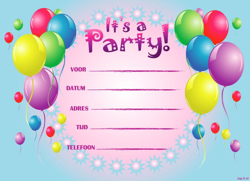 Extreem Uitnodigingen verjaardagsfeestje meisjes | Top-3 kado- en feesttips &FG33