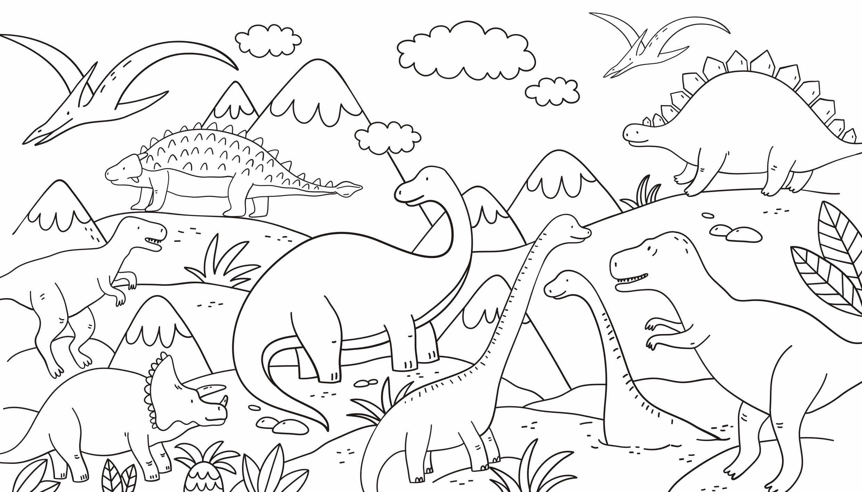 Dinosaurus Kleurplaat Uitprinten
