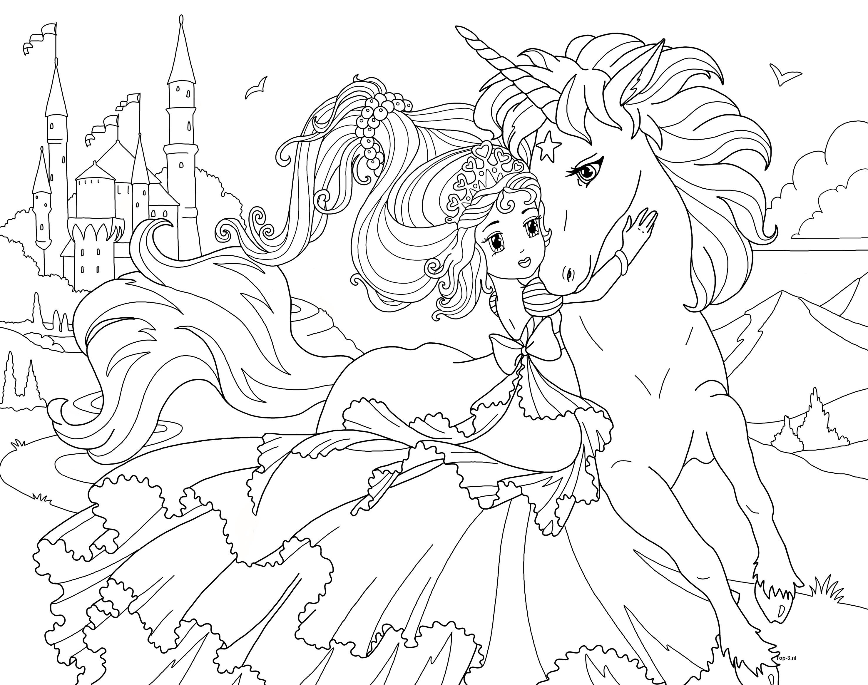 kleurplaten prinses sprookjes zeemeermin top 3 kado