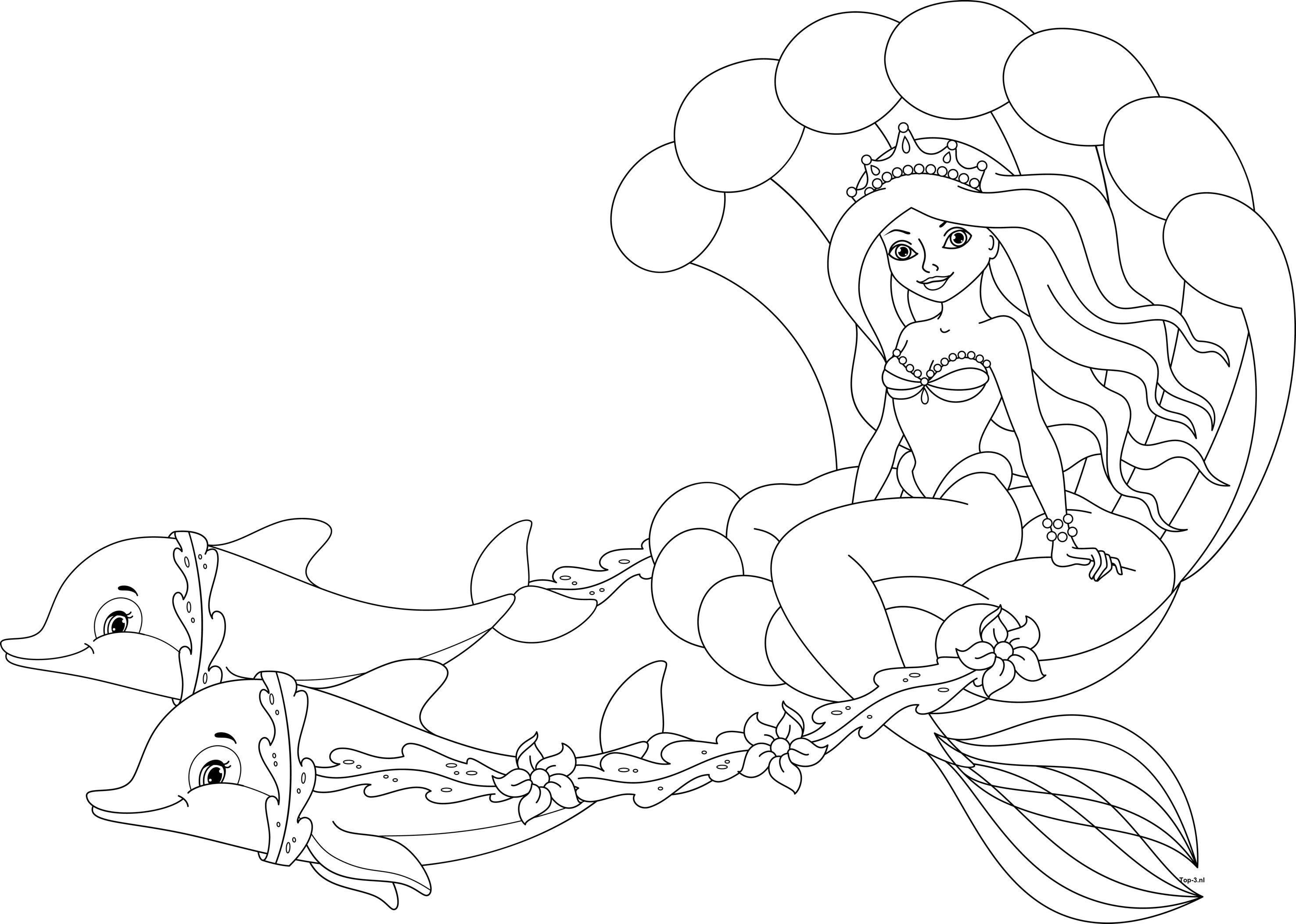 Kleurplaten Van Een Zeemeermin.Kleurplaten Prinses Sprookjes Zeemeermin Top 3 Kado En Feesttips