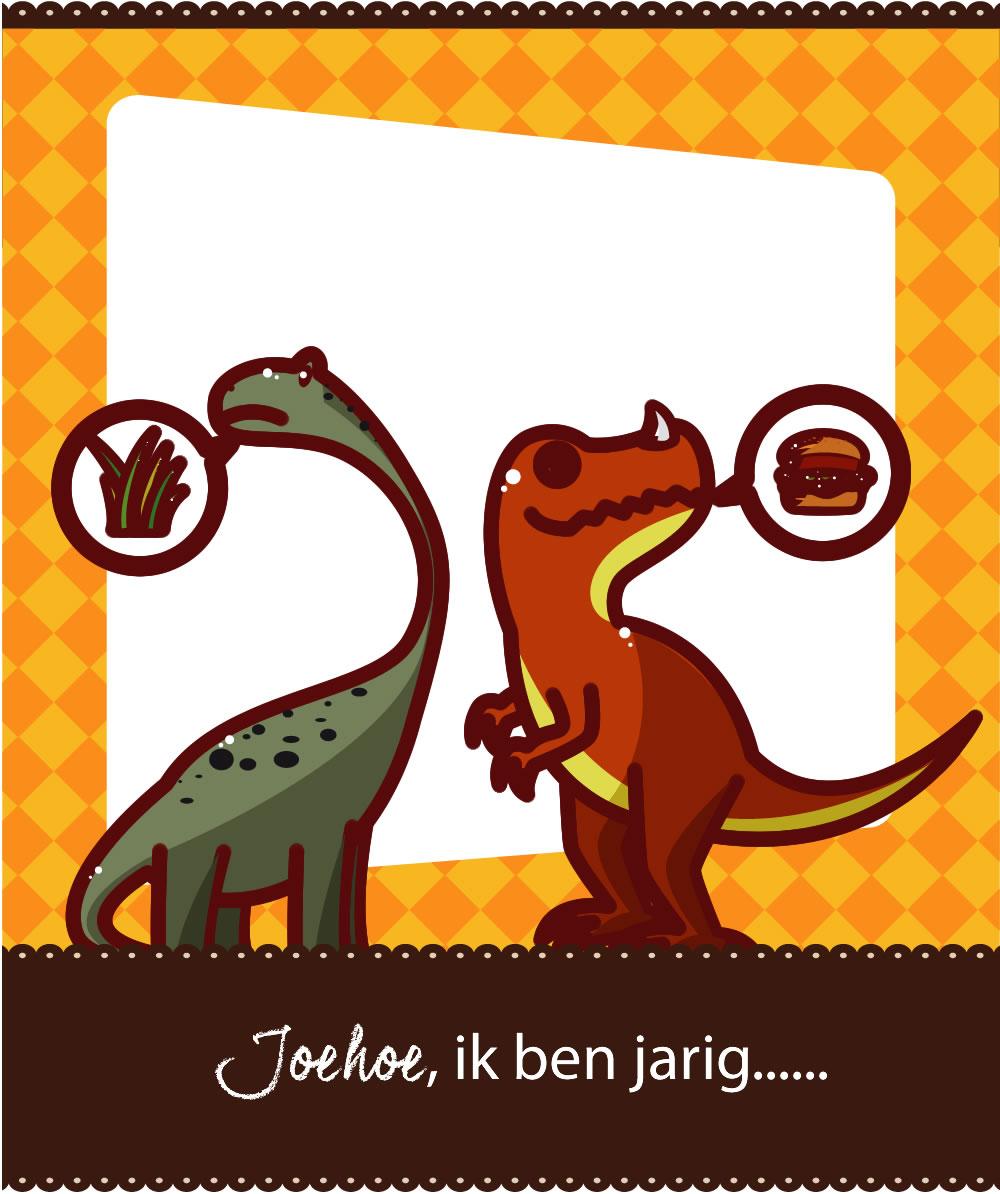 dinosaurus uitnodiging