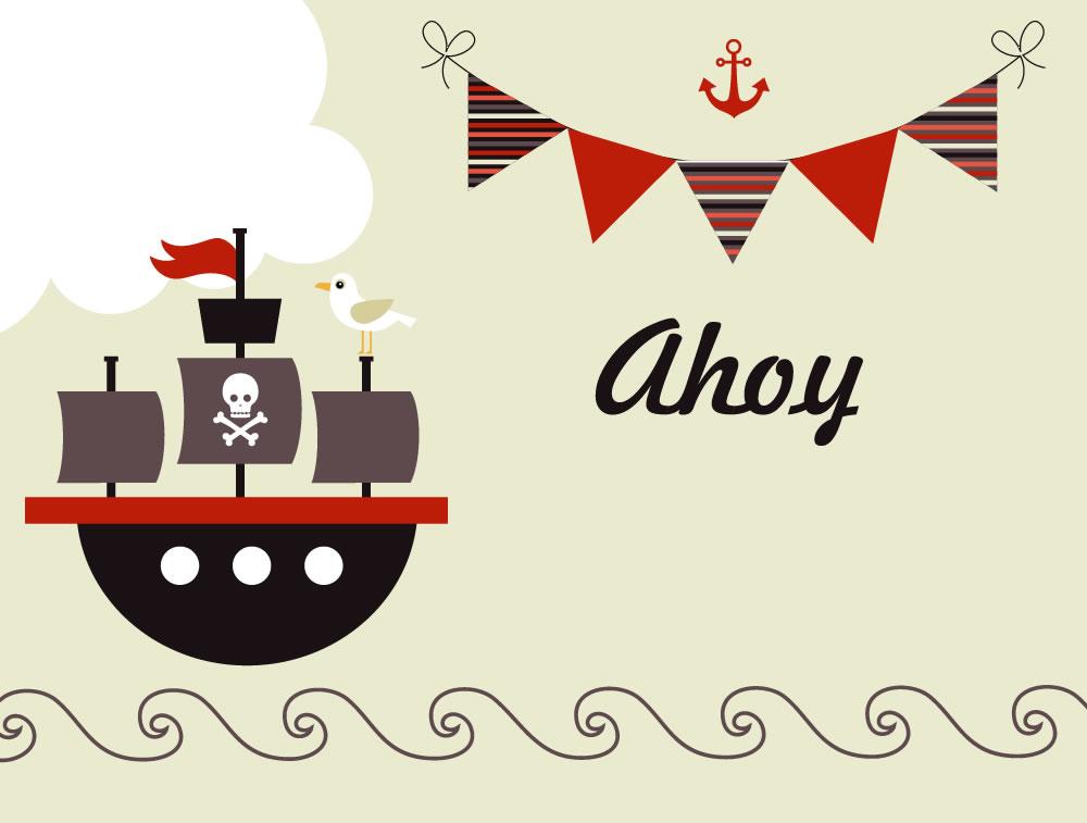 uitnodiging piraten feest